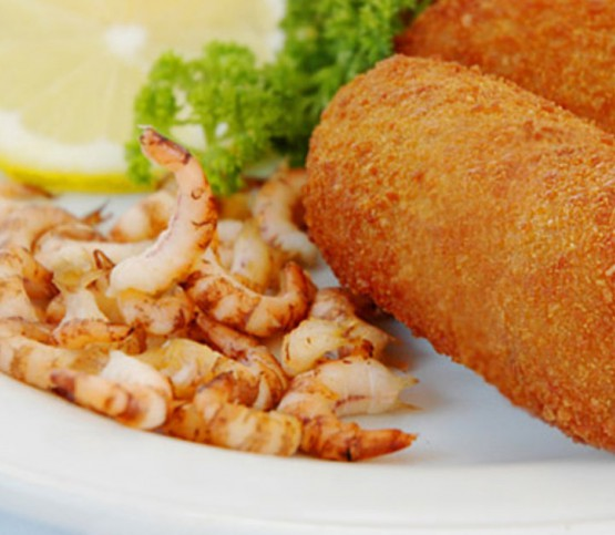 garnaalkroketten, shrimp croquettes